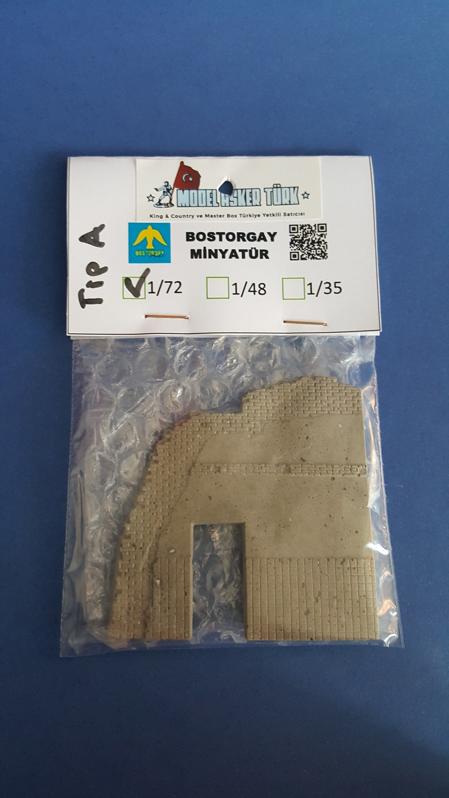 1/72 Scale Ruined House Wall (Type A)